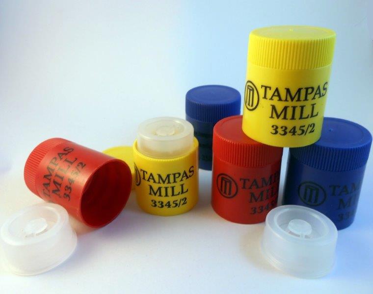 Tampas plásticas para garrafas pet